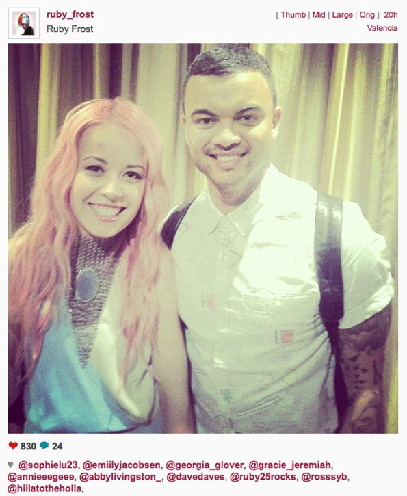 Ruby with guest judge Guy Sebastian