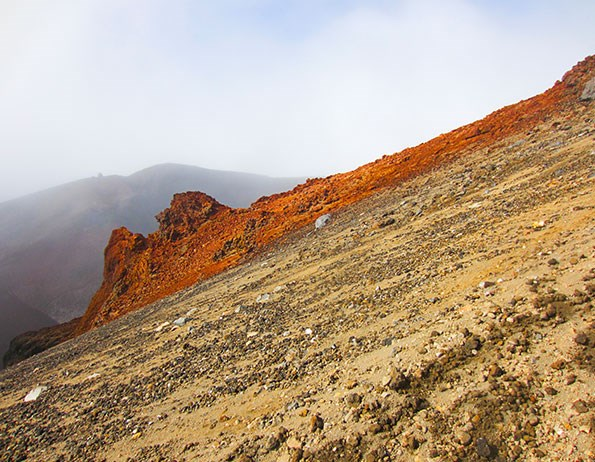 An incline on the Tongariro Crossing.