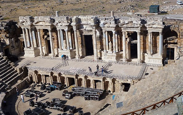 The ancient Roman theatre at Hierapolis.