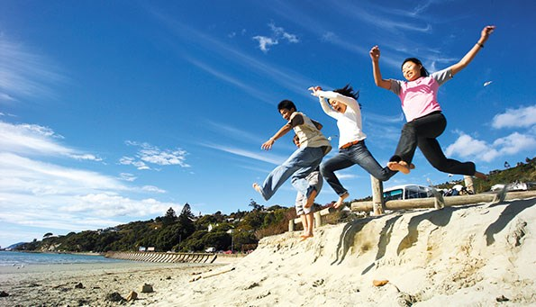 Soak up the sun at beautiful ltahunanui Beach.