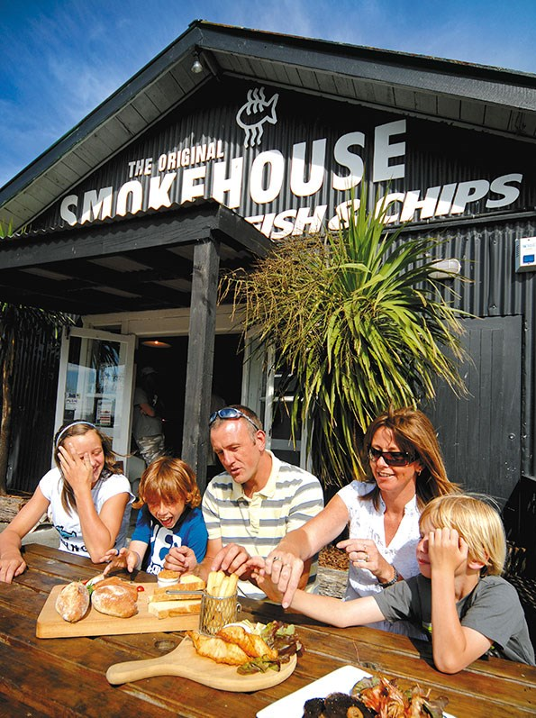 Enjoy a family picnic at Mapua Wharf.