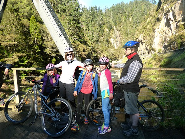 Mary and her family completed the rail trail in a series of day rides.
