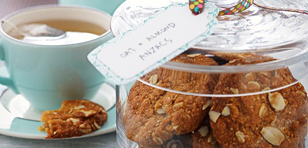 Oat and almond Anzac biscuits