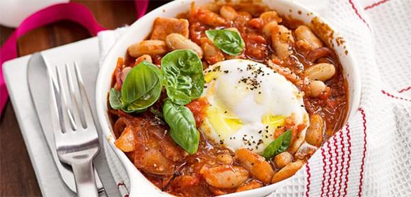 Italian style homemade baked beans