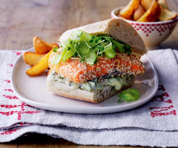 Gourmet fish burgers recipe food to love for Gourmet fish recipes