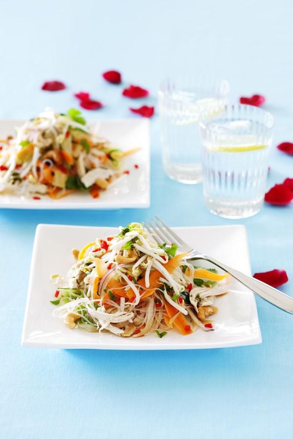 Chicken vermicelli salad