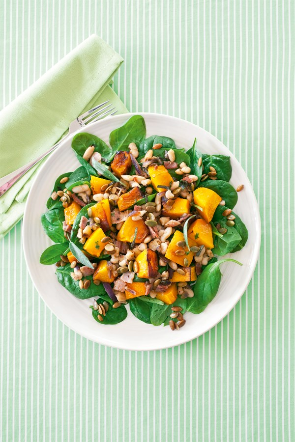 Warm pumpkin salad