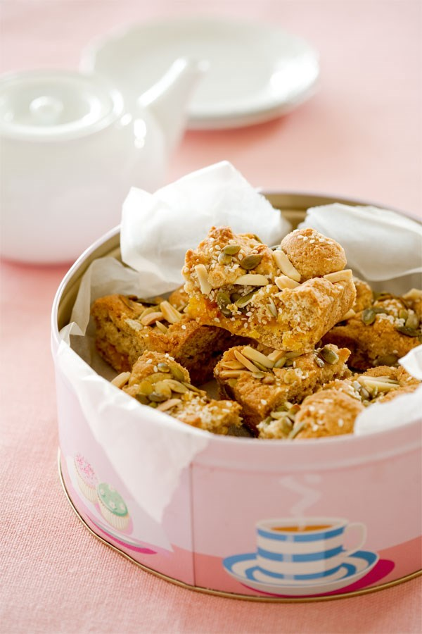 Apricot pumpkin seed square
