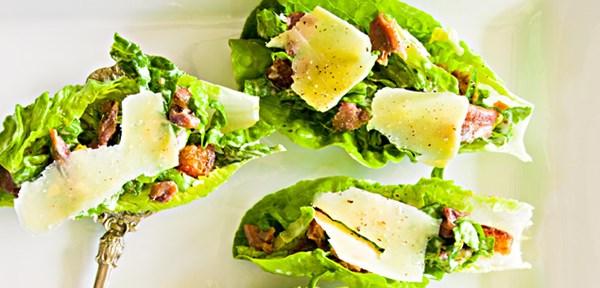 Baby caesar salads