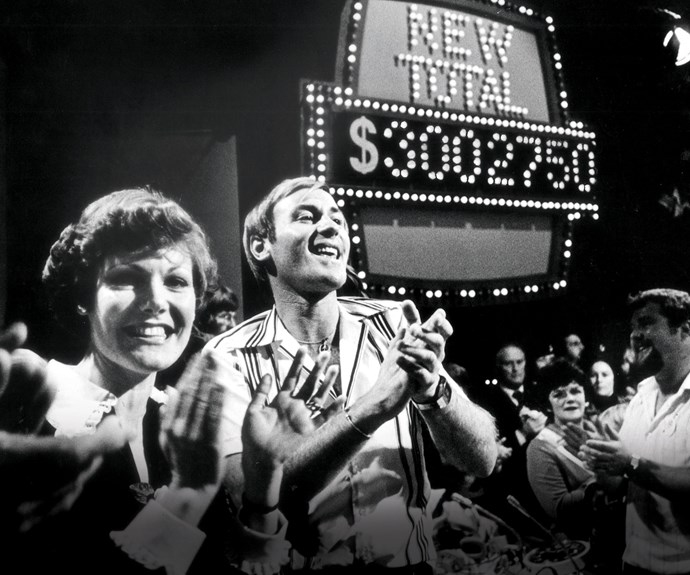 Jenny Goodwin and Peter Sinclair at a Telethon.