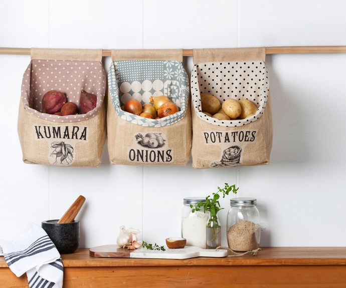 Craft your own hessian vegetable sacks