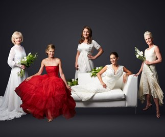 Wedding dresses over the years