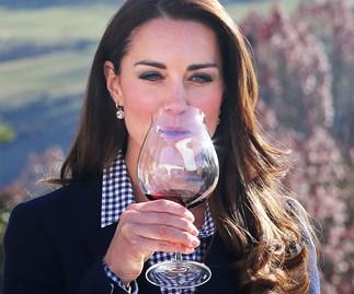 Duchess Kate tasting red wine