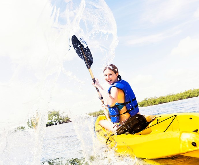 Kayaking is good for your health.