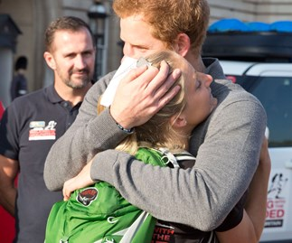 Prince Harry's emotional moment with injured veteran