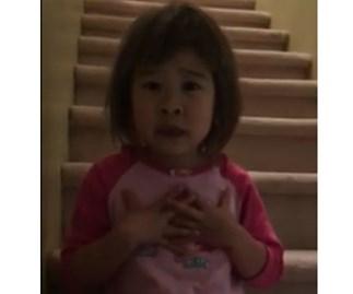 Little girl's heartfelt message to divorced parents