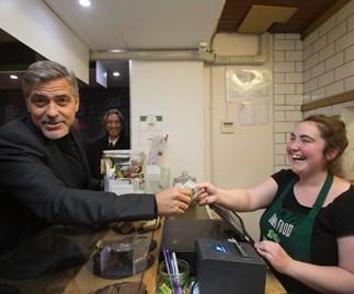 George Clooney visits Social Bite