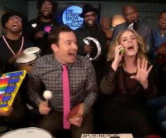 Adele and Jimmy Fallon