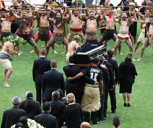 Thousands flock to Eden Park to pay tribute at Jonah Lomu's memorial