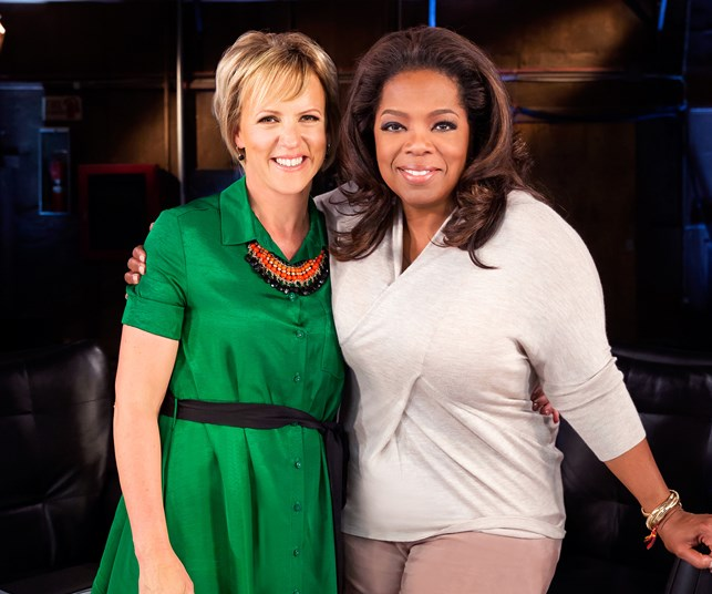 Hilary Barry with Oprah