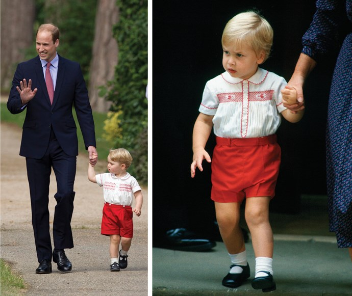 Prince William, prince George and young prince William.