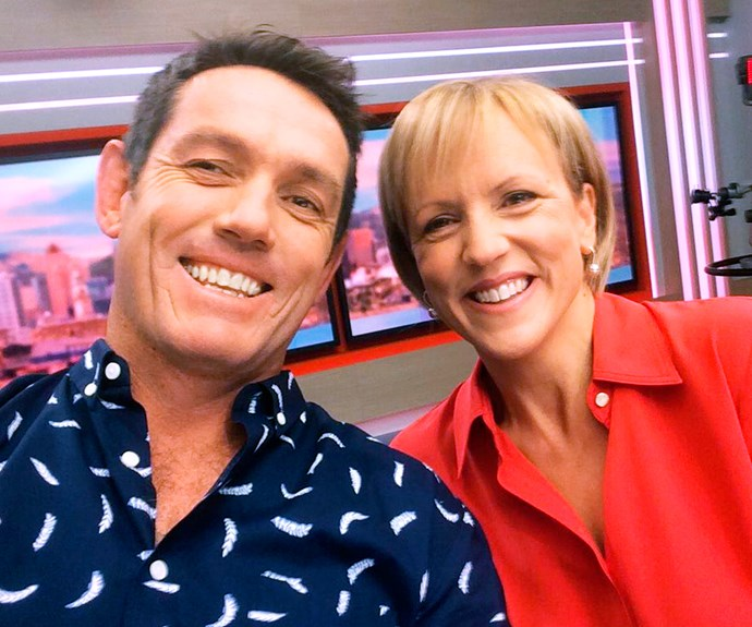 The dad-of-two with his former co-host and friend Hilary Barry.