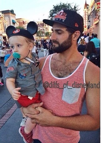 Hot dads of Disneyland