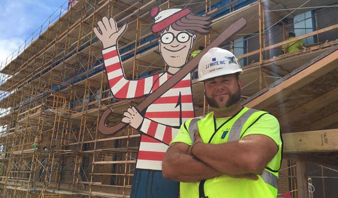 Builder hides life-sized Where's Wally for sick kids