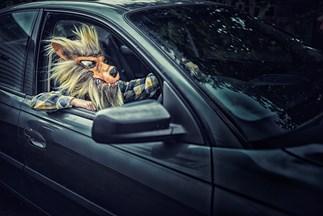 werewolf in a car