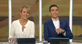 Hilary Barry and Jack Tame's first day on Breakfast
