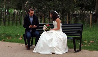 Why this woman wore a wedding dress on first dates