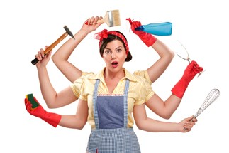 mum's hilarious household chores