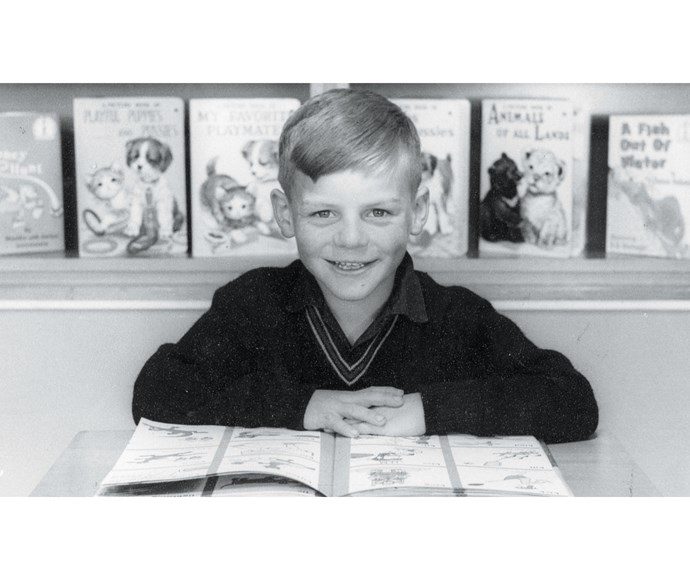 At school aged five or six.