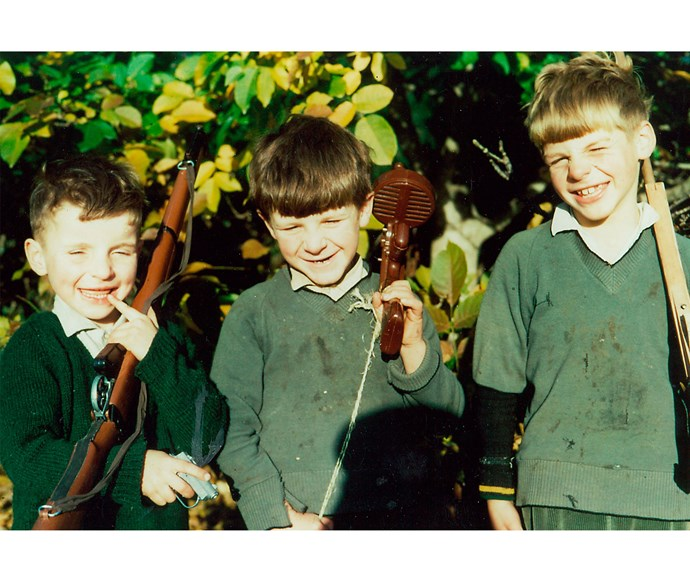 The English trio (from left) Connor, Dermot and Bill.