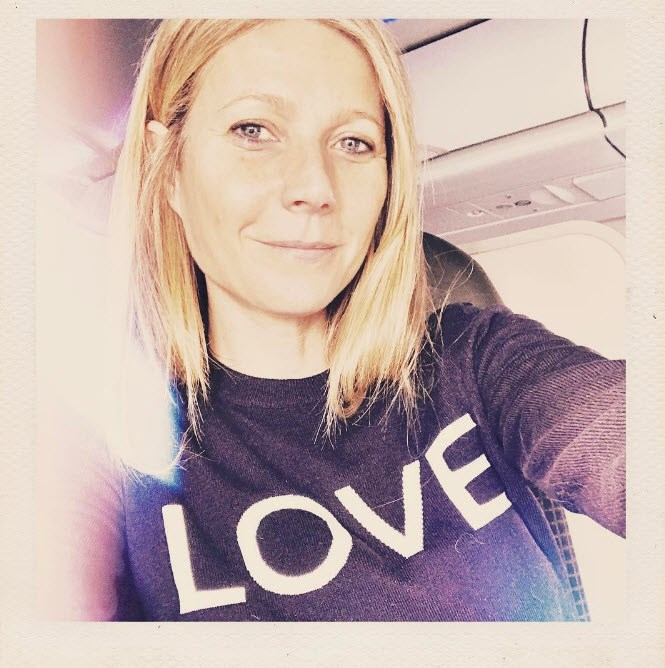 Gwyneth also shared the love for Valentine's Day (and almost had us convinced she'd chopped her hair).