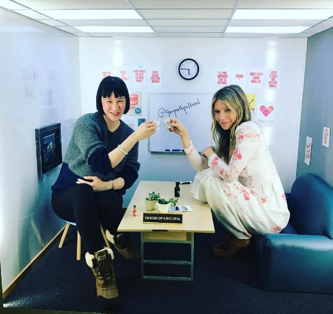 Gwyneth Paltrow was at it again, visiting Instagram HQ for a micro-meeting.