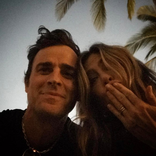 As Justin Theroux wished his wife, Jennifer Aniston a happy birthday.