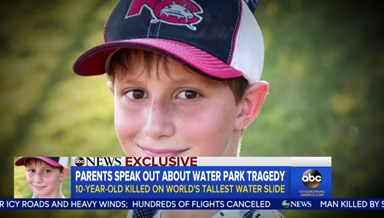 Parents of child killed at water park speak out for first time