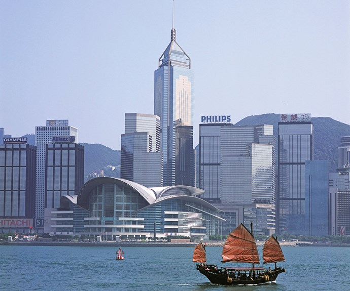 Tour Hong Kong harbour on a traditional junk boat.