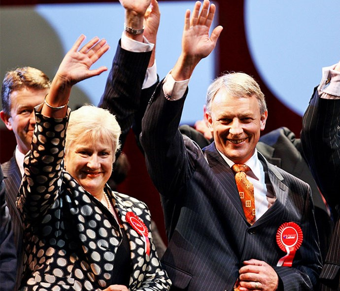 With Phil Goff in 2008 prior to the general election that saw a change in government.
