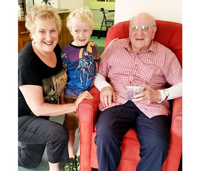 Youngest grandson William and her dad Bill will be getting a lot more attention after she retires.