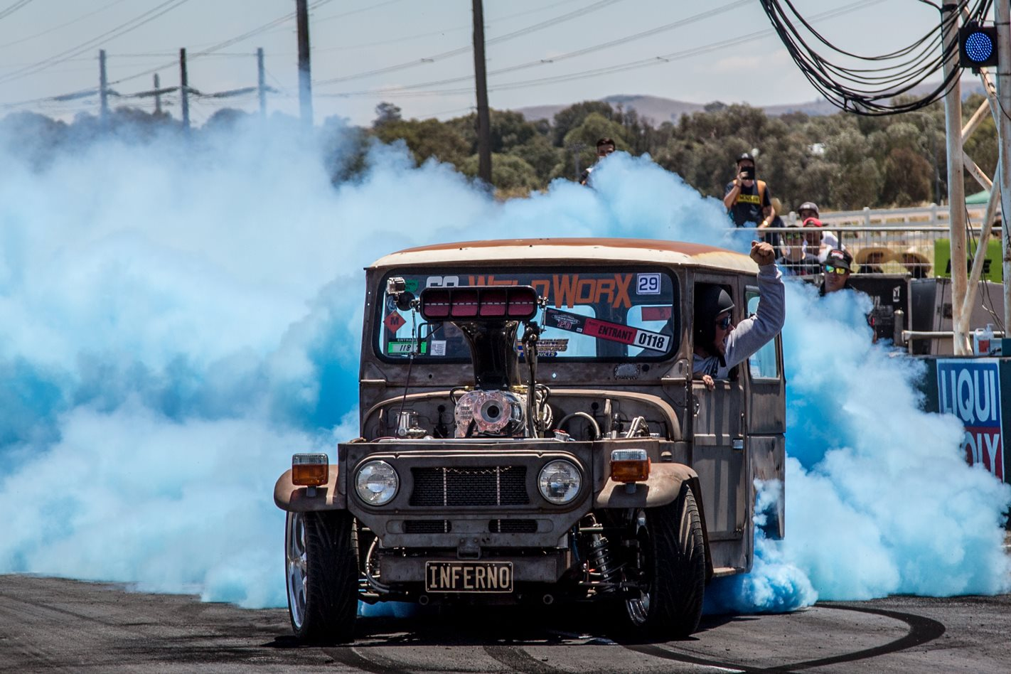 Tom Beltrame Blown Big Block Fj40 Landcruiser Burnout Car