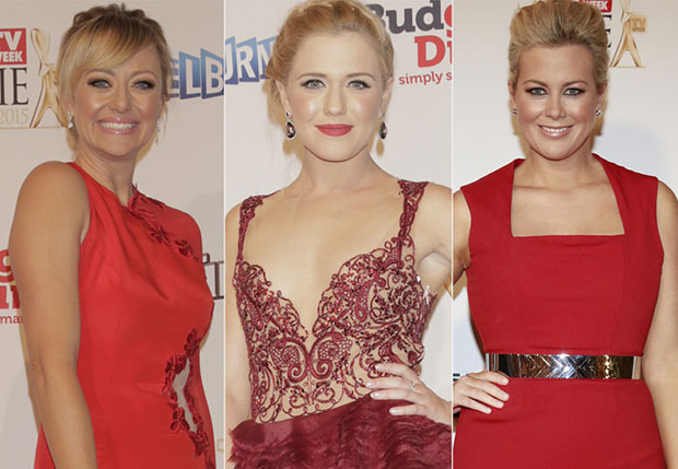 Ladies in red at the Logies