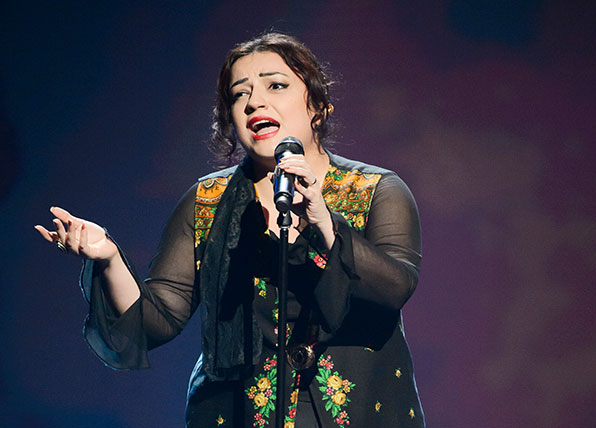 the voice contestant shirin reveals what caused her shock