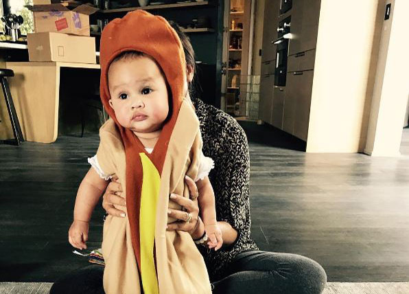 John Legend and Chrissy Teigen's baby just won Halloween