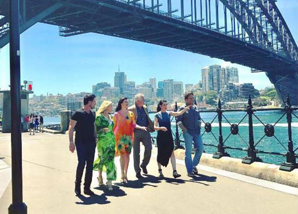 The cast of The Bold And The Beautiful visit Australia