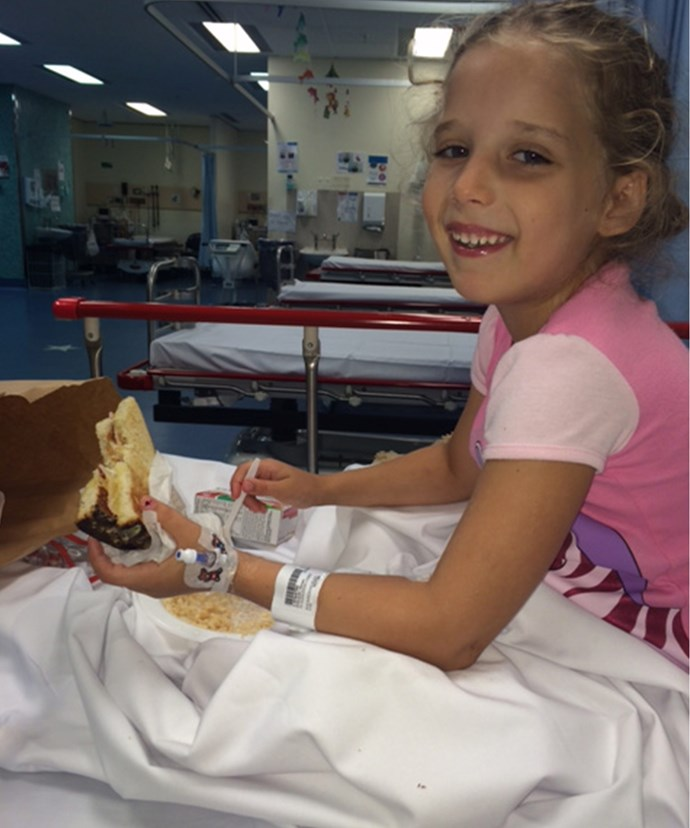 Harper recovering in hospital following her drowning scare.