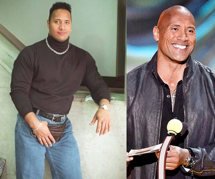 Wow! The Rock knows how to rock a turtle neck.