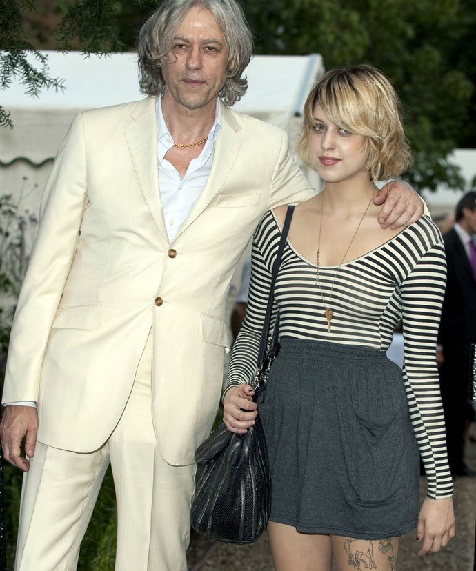 Bob and his daughter Peaches pictured together, in 2009