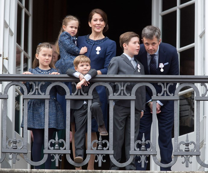 The future King and Queen of Denmark, Prince Fred and Princess Mary, have a beautiful brood made up of Prince Christian, 11, Princess Isabella, eight, and twins Prince Vincent and Princess Josephine, both six.